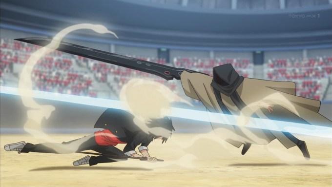 近衛刀太とカトラスの戦闘