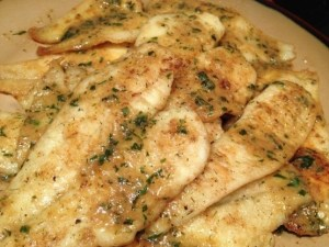 Fresh Dover Soles makes a great quick dish when pan fried!