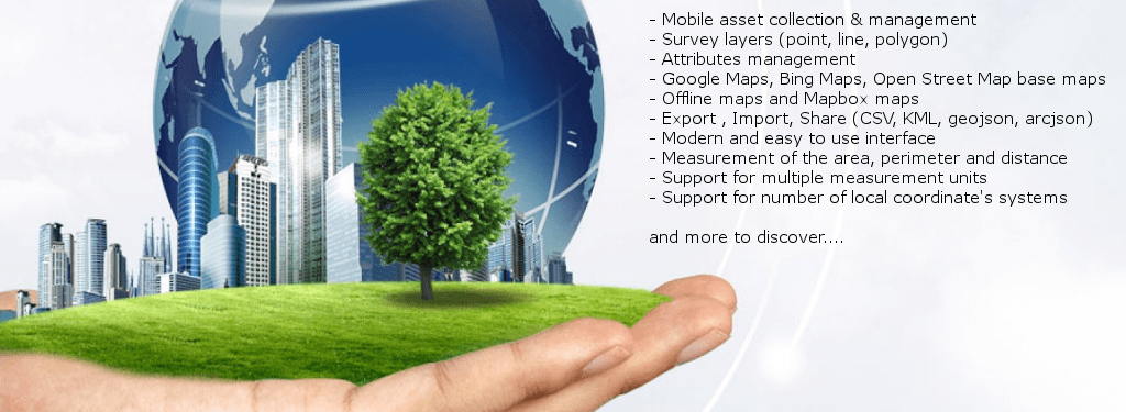 MapIt - Mobile app for asset collection, data management and environmental surveys.