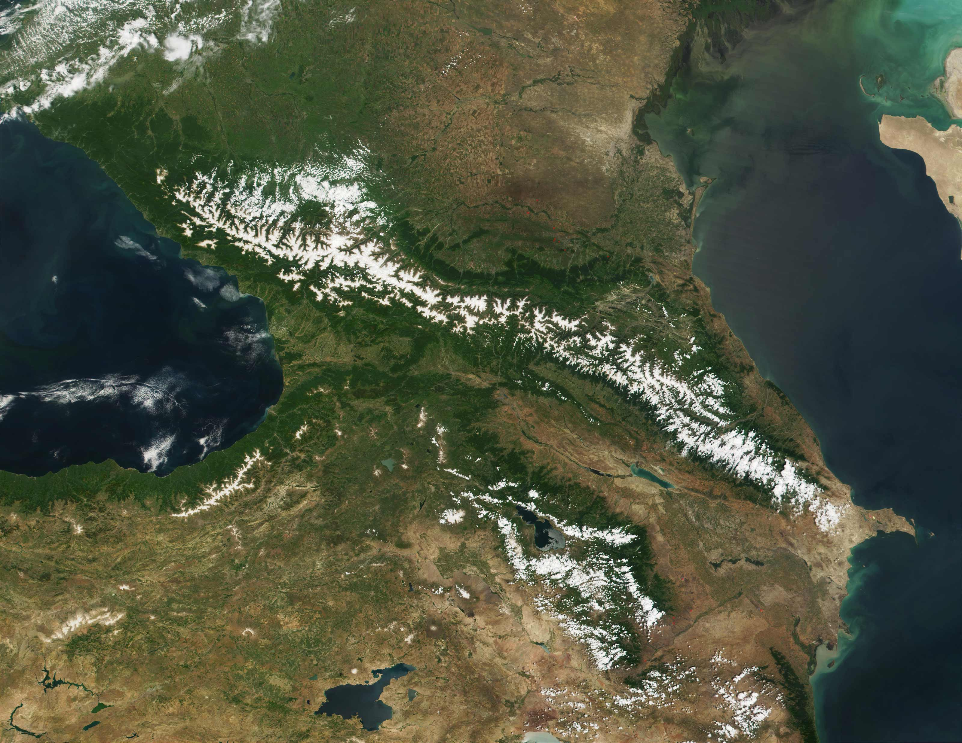 Caucasus Satellite Image     Mapsof net Click on the Caucasus Satellite Image