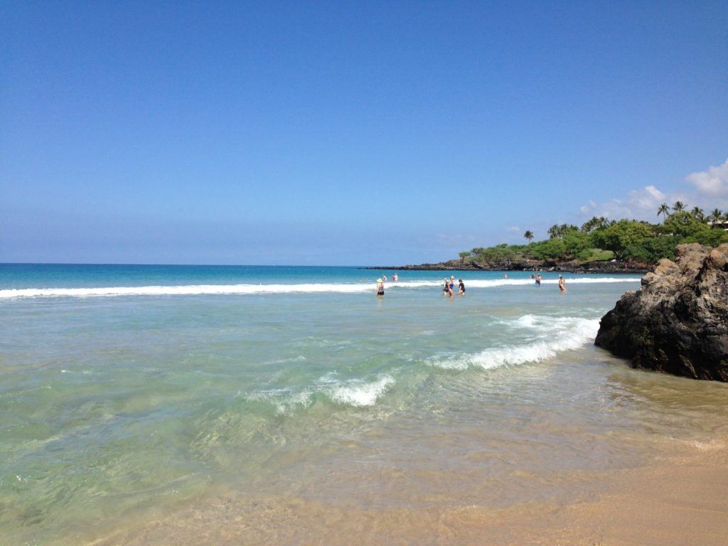 Hapuna Beach on The Big Island, Hawaii
