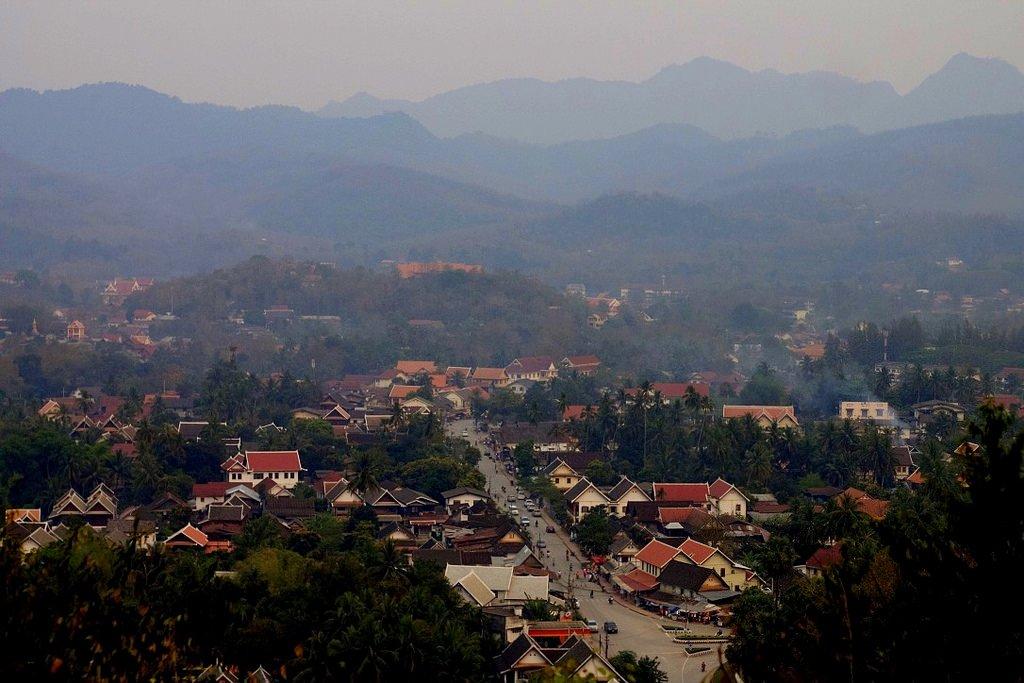 Panoramic view of Luang Prabang, Laos