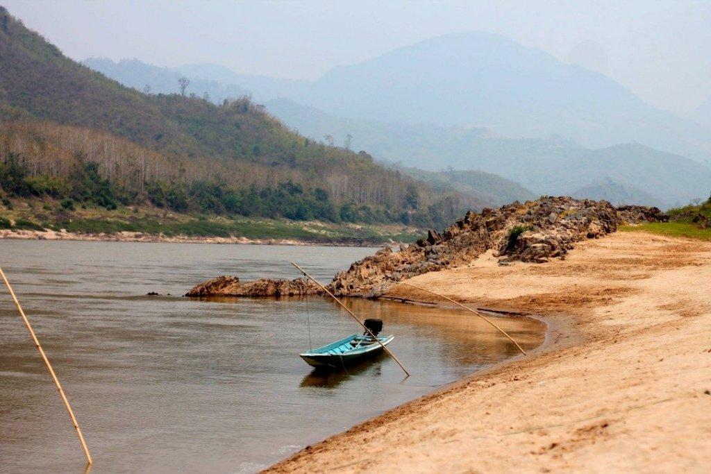 Mekong River fishing boat