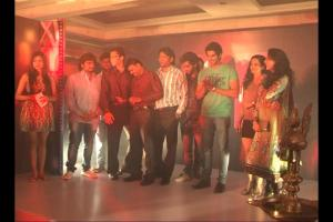 Cast & Crew Of The Strugglers - Amhi Udyache Hero at music launch party