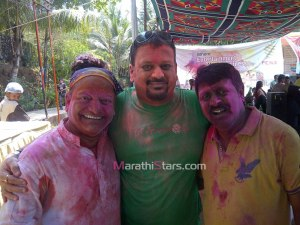 Vijay Patkar and Vijay Kadam While Playing Holi
