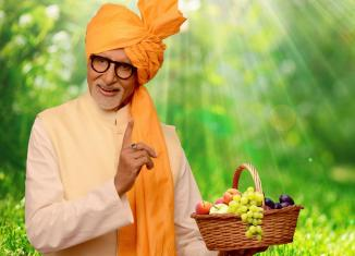 Amitabh Bachchan in Marathi Avatar to promote fruits.