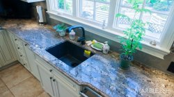 Small Of Blue Granite Countertops