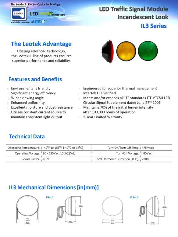 Leotek.IL3.Traffic.Signal.Spec.Sheet.V13-111711_Page_1