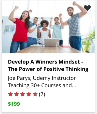 Udemy training course