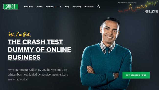 Pat Flynn Homepage
