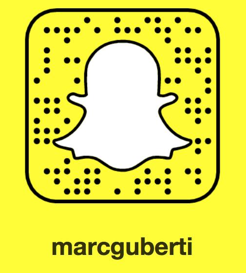 SnapChat @MarcGuberti