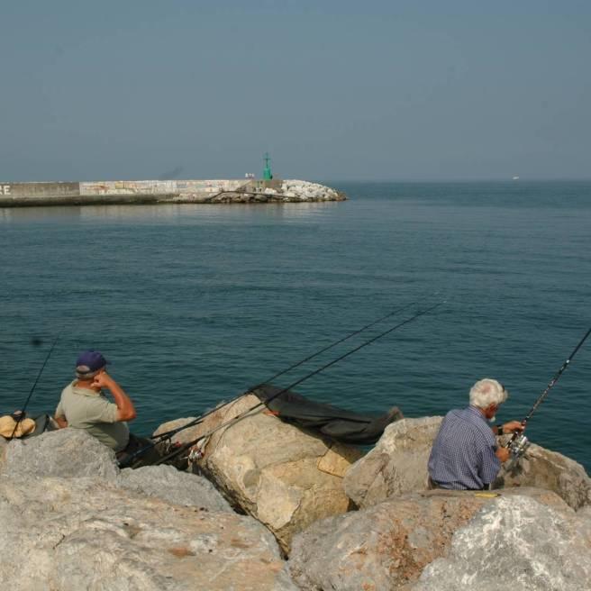 Viareggio: La punta del canale Burlamacco lato esterno ottimo per le orate