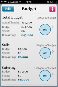 Application Wedd Budget Mariage