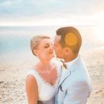 mariage, soleil, plage, réunion,