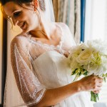 mariage, robe, bouquet, voile,