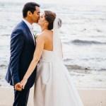 mariage, réunion, robe, costume, plage, voile,