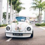 mariage, voiture, fleurs,