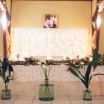 mariage, décoration, lumière, fleurs,