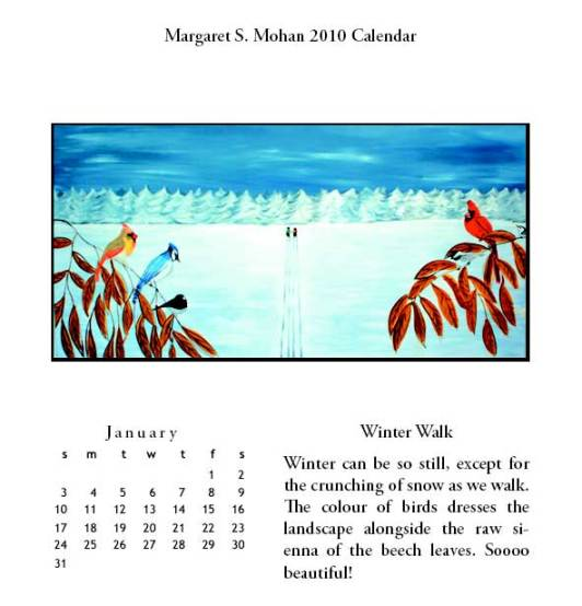 January 2010 Calendar Page