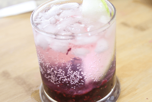 Slim & Trim: Blackberry Pear Vodka Spritzer