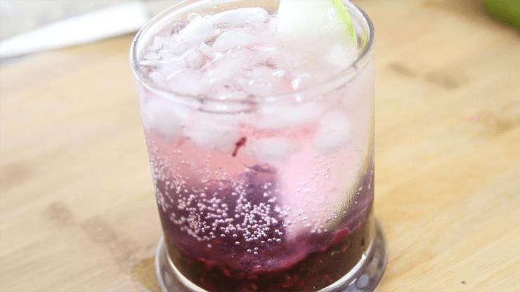 Blackberry Pear Vodka Spritzer