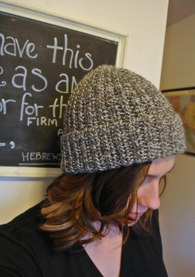 Crochet Pattern Ribbed Wool Winter Hat Margeaux Vittoria