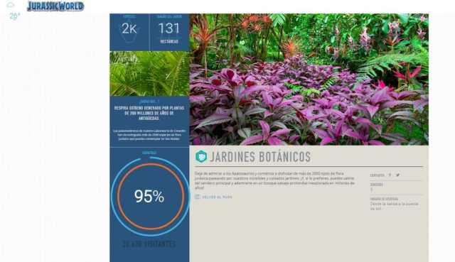 Jardín botánico en Jurassic World