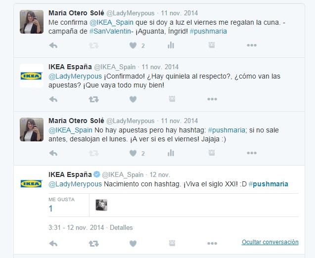 #pushmaria Ikea | Maria en la red