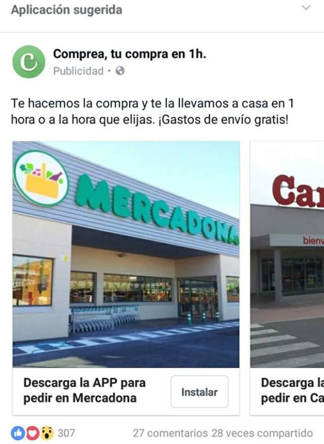 Facebook Ads Comprea Maria en la red
