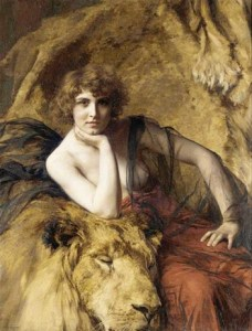 Emile friant - woman with a lion 1919