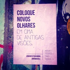 Da página Manifesto das Minas - Reprodução