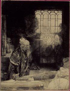 Fausto - Água Forte de Rembrandt - Reprodução