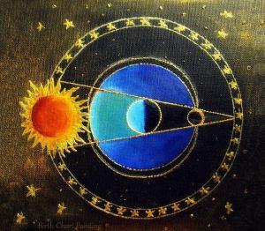 Eclipse Lunar - Birth Chart Paiting - Reprodução