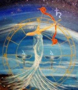 Júpiter em Loibra - Birth Chart Painting - Reprodução