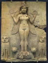 Innana-Ereshkigal - Escultura Sumeriana - Museu Britânico - Reprodução