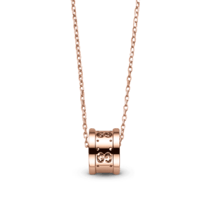 Gucci Ring Charm Rose Gold Necklace