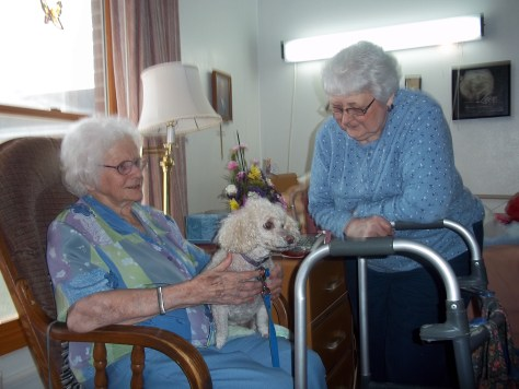 Hilda loved it when Lucy visited her.
