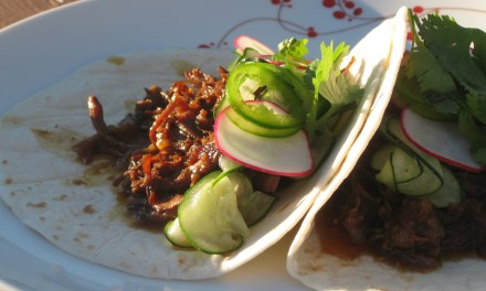 Slow Cooker Korean Beef Taco's with Cucumber Slaw