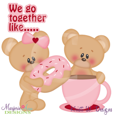 We Go Together Like Coffee & Doughnuts SVG Cutting Files+Clipart - $1.80 : Marjorie Ann Designs ...