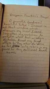 franklin prayer