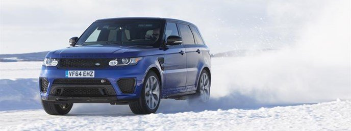 Range Rover Sport SVR tested on replica Silverstone ice circuit