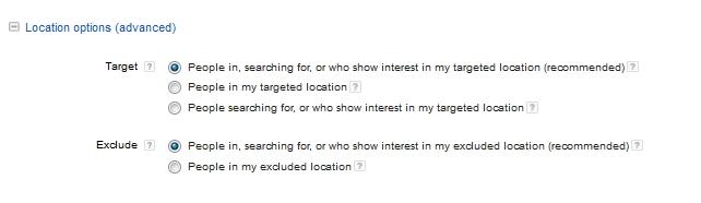locations options advanced