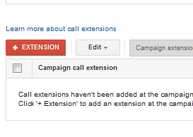 call extensions button
