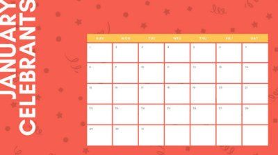 Customize 32+ Birthday Calendar templates online - Canva
