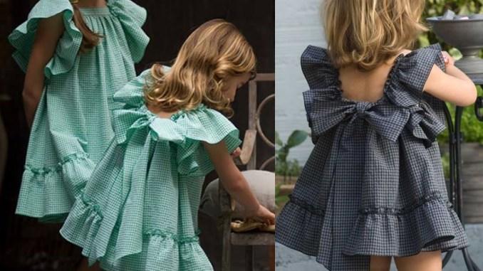 Детское платье с воланами как сшить 93
