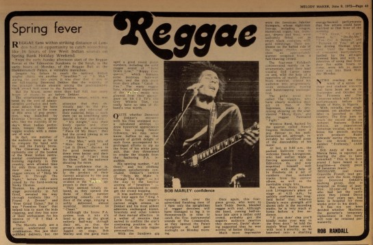 Melody Maker Jun 9, 1973 wailers