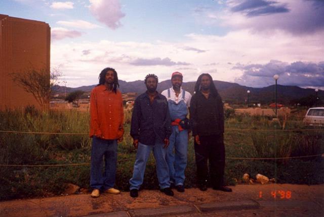 Namibia, Africa January 1998 - Bose, Ron, Joe and Vaughn