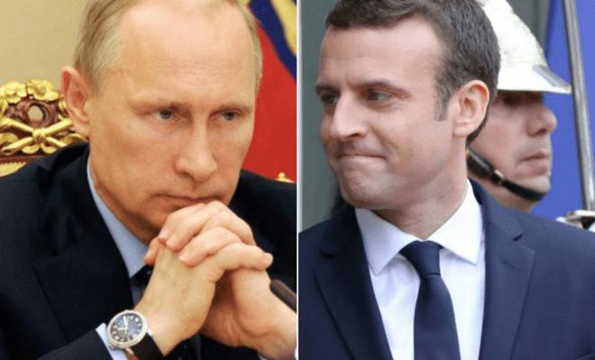 Premier entretien téléphonique Poutine-Macron
