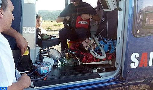 Transfert héliporté d'Ouazzane vers Tétouan d'un jeune souffrant de complications respiratoires