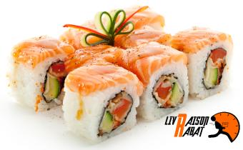 Offre 1 : Plateau de 28 pièces de sushis variés à 99DH au lieu de 170DH